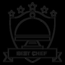 Melhor linha de crachá de prato de chef