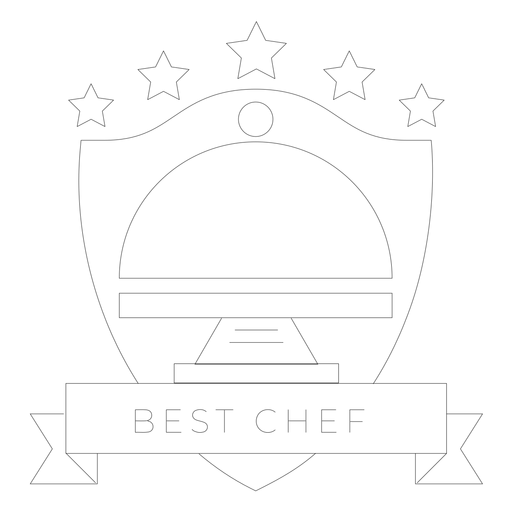 Best chef dish badge line Transparent PNG