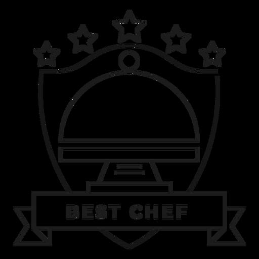 Best chef dish star badge stroke Transparent PNG