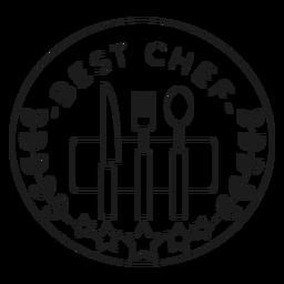 La mejor línea de placa de tenedor de chef