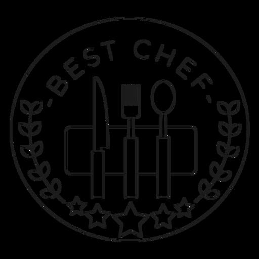 Best chef fork badge line Transparent PNG
