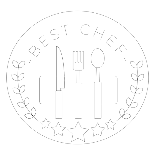 La mejor línea de placa de tenedor de chef Transparent PNG