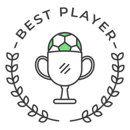 Best player ball cup branch colored badge sticker