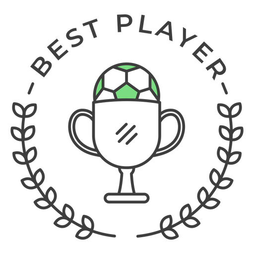 Best player ball cup branch colored badge sticker Transparent PNG