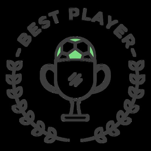 Etiqueta engomada coloreada de la rama de la taza de la mejor bola del jugador Transparent PNG