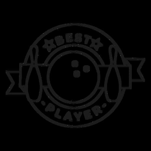 Mejor jugador bola skittle estrella insignia trazo Transparent PNG