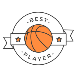 Best player ball star colored badge sticker