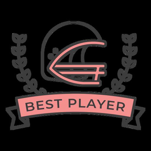 Etiqueta engomada coloreada de la mejor rama del casco del mejor jugador Transparent PNG