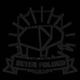 Beter folded paper elephant badge line