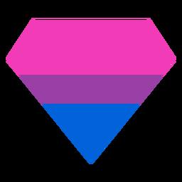 Bisexual brillante raya diamante plana