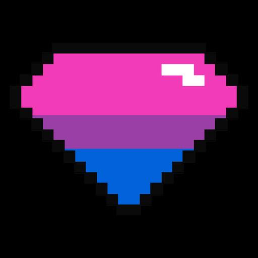Bisexual brilliant diamond stripe pixel flat Transparent PNG