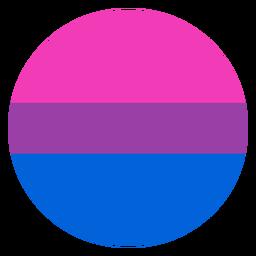 Listra de círculo bissexual plana