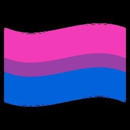 Banda de bandera bisexual plana