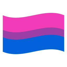 Bisexual flag stripe flat