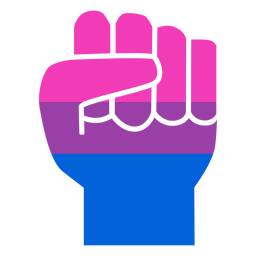 Bisexual hand finger fist stripe flat
