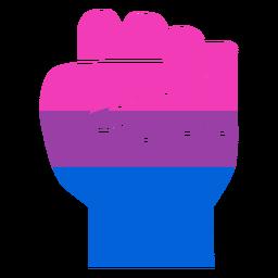 Bissexual mão dedo punho listrada plana