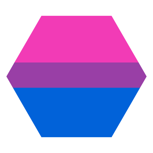 Banda hexagonal bisexual plana Transparent PNG
