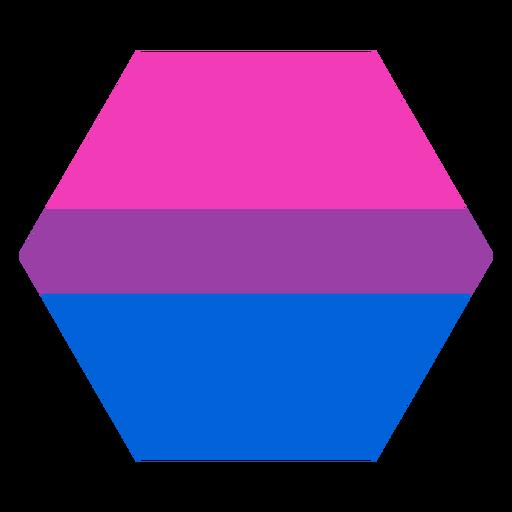 Bisexueller Sechskantstreifen flach Transparent PNG