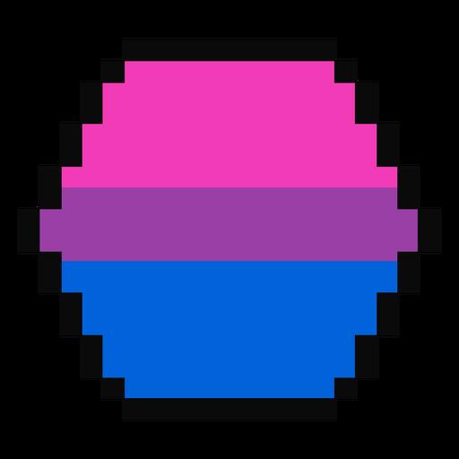 Bisexual hexagon stripe pixel flat Transparent PNG