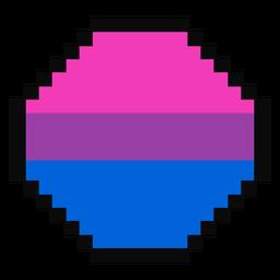 Bisexual octogonal raya pixel plana