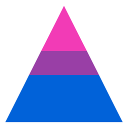 Bisexual triangle stripe flat