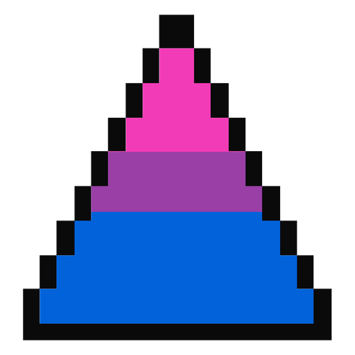 Bisexual triangle stripe pixel flat Transparent PNG