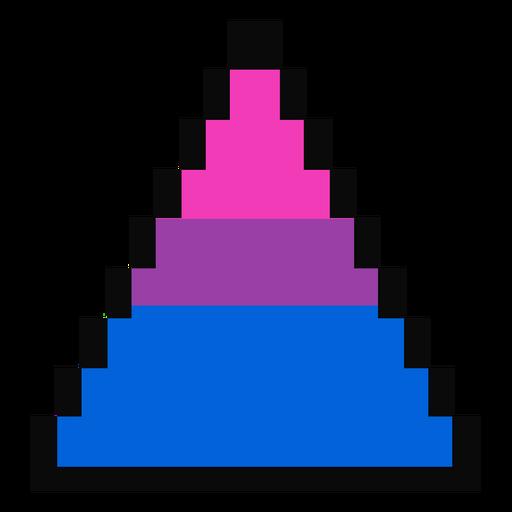 Triángulo bisexual raya pixel plana Transparent PNG