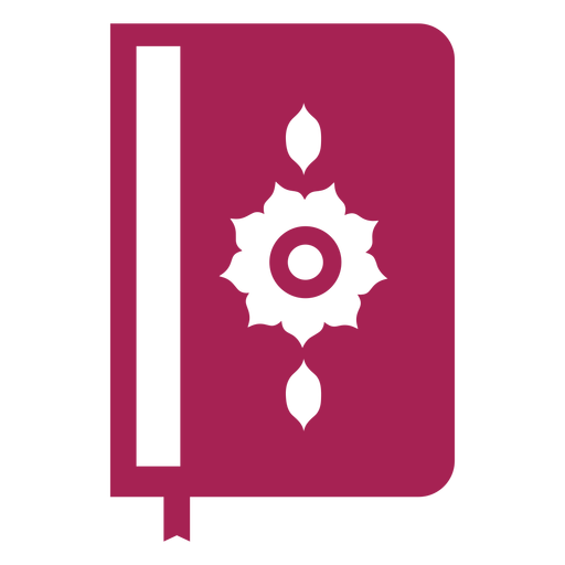 Book double page page flower cover bookmark detailed silhouette