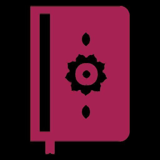 Livro duplo página página flor capa marcador detalhado silhueta Transparent PNG