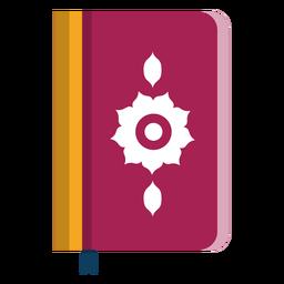 Livro duplo página página flor capa bookmark plana