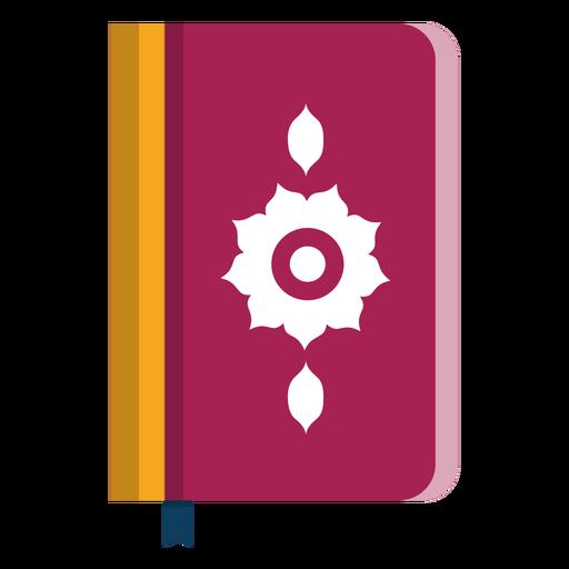 Livro duplo página página flor capa bookmark plana Transparent PNG