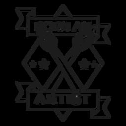 Nascido um artista rhomb lema escova distintivo acidente vascular cerebral