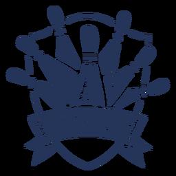 Etiqueta do emblema do pino da bacia