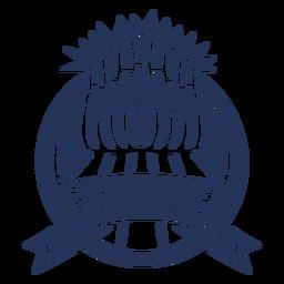 Etiqueta engomada de la insignia del círculo del bol de bol de tazón de fuente