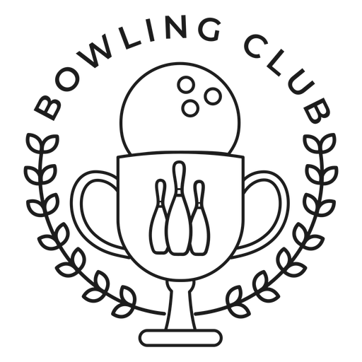 Bowling club ball cup skittle branch badge stroke Transparent PNG