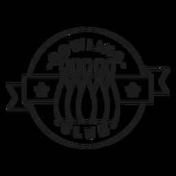 Club de bolos skittle estrella insignia trazo
