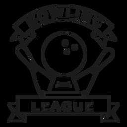 Bowling Ligue Kegel Ball Abzeichen Schlaganfall