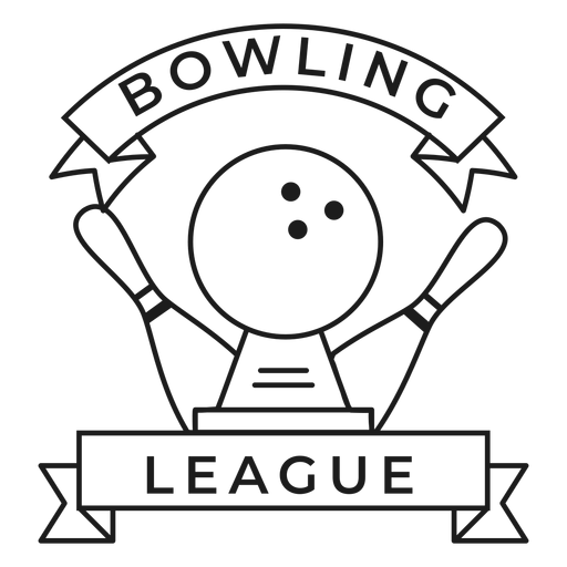 Bowling Ligue Skittle Ball Insignia Transparent PNG