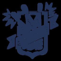 Bowlingspielkegel-Abzeichenaufkleber