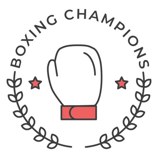 Boxing champions  Glove boxing glove star branch colored badge sticker Transparent PNG