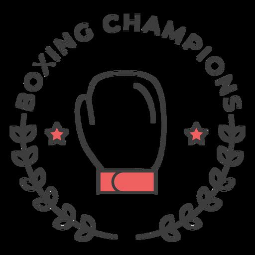 Campeones de boxeo Guante boxeo guante estrella rama etiqueta coloreada etiqueta Transparent PNG