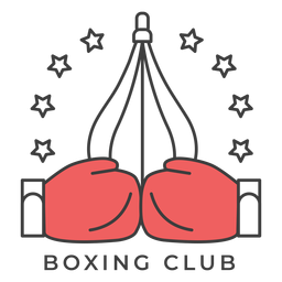 Etiqueta engomada coloreada estrella de la insignia del boxeador del club del punchbag del boxeo del club