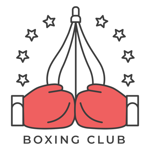 Boxing club punchbag glove boxing glove star colored badge sticker Transparent PNG