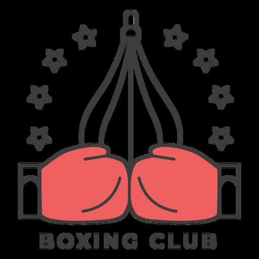 Etiqueta engomada coloreada estrella de la insignia del boxeador del club del punchbag del boxeo del club Transparent PNG