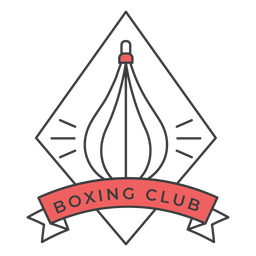 Boxing club punchbag rhomb colored badge sticker