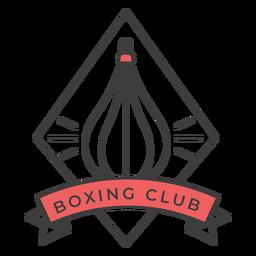 Etiqueta do emblema colorido do punchbag do clube do encaixotamento