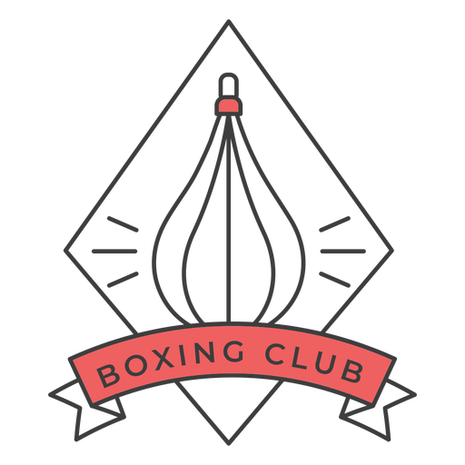 Boxing club punchbag rhomb colored badge sticker Transparent PNG