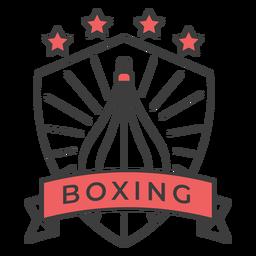 Etiqueta engomada coloreada estrella del punchbag del boxeo