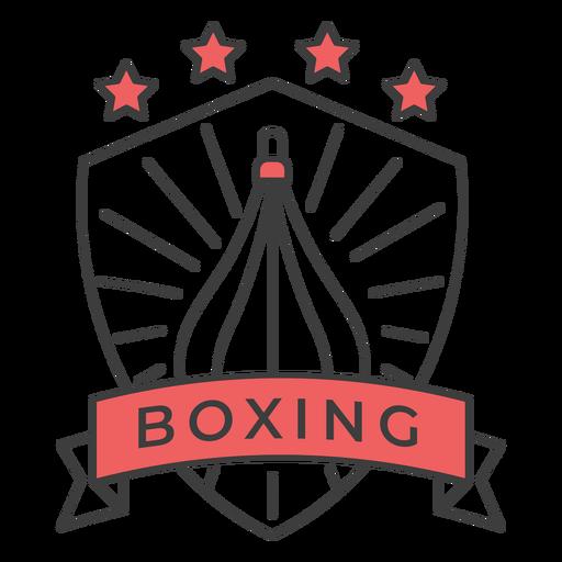 Etiqueta engomada coloreada estrella del punchbag del boxeo Transparent PNG