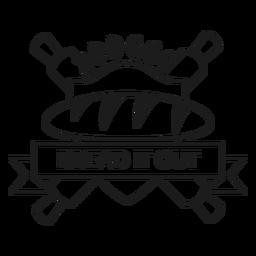 Brot backen Abzeichen Schlaganfall